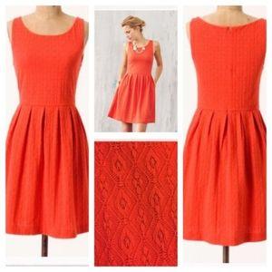 Anthropologie Deletta torchon design A line dress